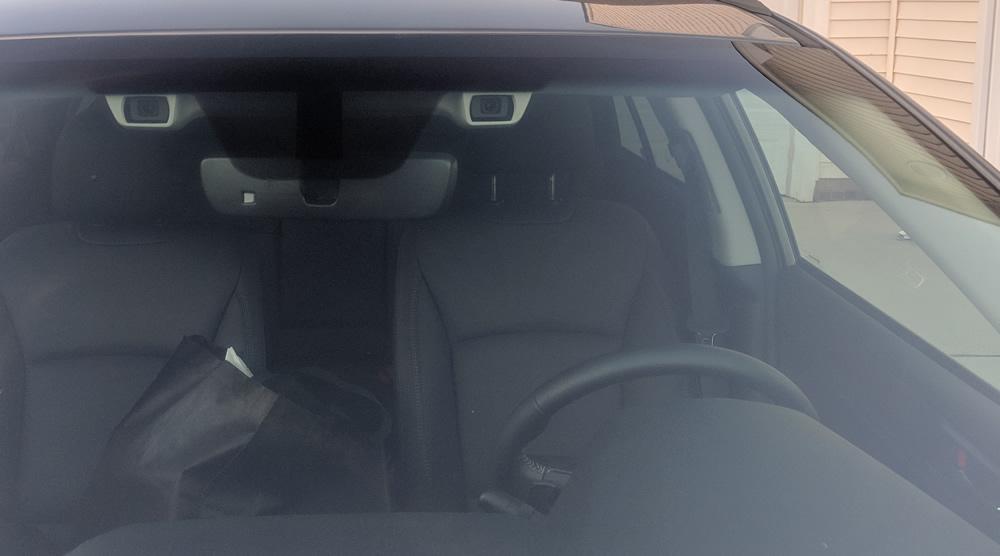 "2019 Subaru Outback with Subaru's binocular ""Eyesight"" safety package."