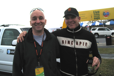 Me with a very gracious Bob Roll at the Tour de Georgia in 2007