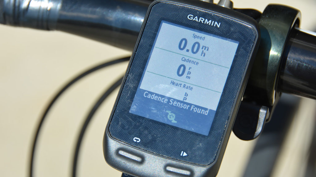 Garmin Edge sensor found alert