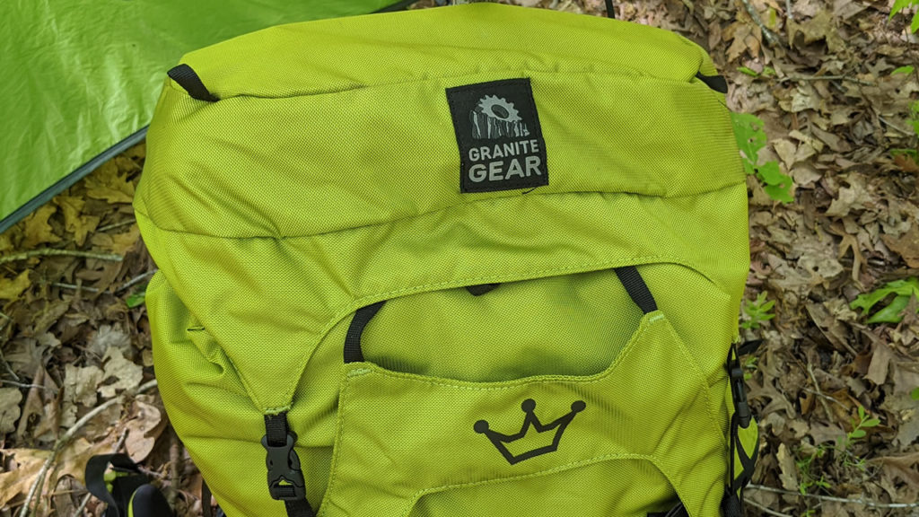 The lid/brain of the Granite Gear Crown2