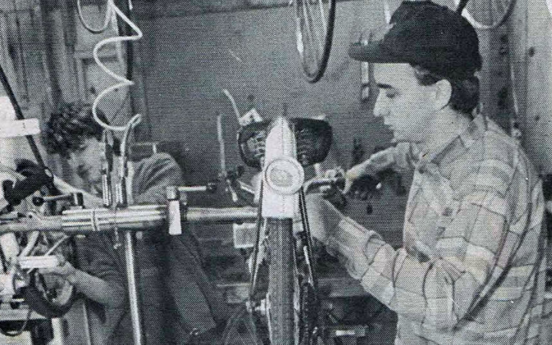 Working at Dixon's Bicycles