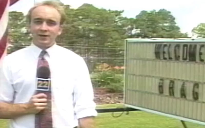Reporting from the Bicycle Ride Across Georgia for WJCL in 1993