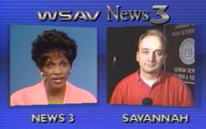 Reporting for WSAV-TV with anchor Tina Tyus