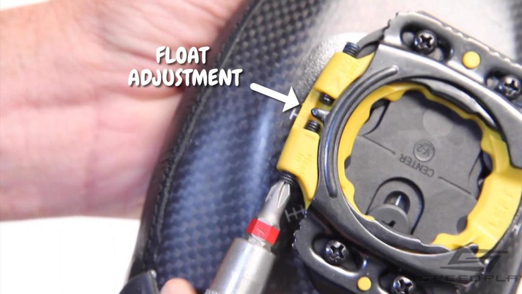 Speedplay float adjustment